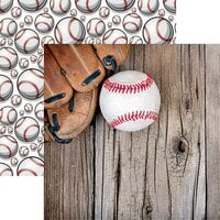 Reminisce - Game Day Baseball Collection - 12 x 12 Double Sided Paper - Baseball 2