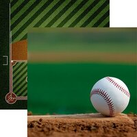 Reminisce - Game Day Baseball Collection - 12 x 12 Double Sided Paper - Baseball 4