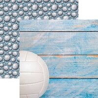 Reminisce - Game Day Volleyball Collection - 12 x 12 Double Sided Paper - Volleyball 2