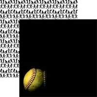 Reminisce - Game Day Softball Collection - 12 x 12 Double Sided Paper - Softball