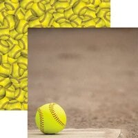 Reminisce - Game Day Softball Collection - 12 x 12 Double Sided Paper - Home Plate
