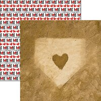 Reminisce - Game Day Softball Collection - 12 x 12 Double Sided Paper - Home Plate Love