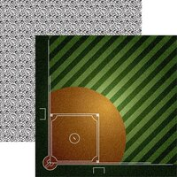 Reminisce - Game Day Softball Collection - 12 x 12 Double Sided Paper - Ball Field