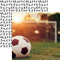 Reminisce - 12 x 12 Double Sided Paper - Soccer 1