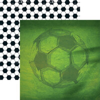 Reminisce - 12 x 12 Double Sided Paper - Soccer 3