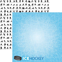 Reminisce - Game Day Hockey Collection - 12 x 12 Double Sided Paper - Ice Hockey