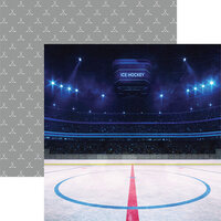 Reminisce - Game Day Hockey Collection - 12 x 12 Double Sided Paper - Faceoff