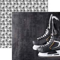 Reminisce - Game Day Hockey Collection - 12 x 12 Double Sided Paper - Skates