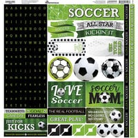 Reminisce - 12 x 12 Cardstock Alpha Stickers - Game Day
