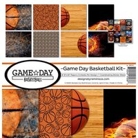 Reminisce - Game Day Basketball Collection - 12 x 12 Collection Kit