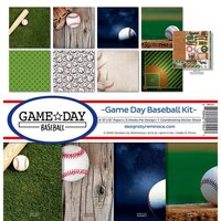 Reminisce - Game Day Baseball Collection - 12 x 12 Collection Kit