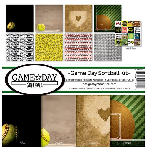 Reminisce - Game Day Softball Collection - 12 x 12 Collection Kit
