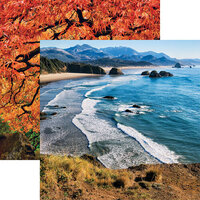 Reminisce - The Great Northwest Collection - 12 x 12 Double Sided Paper - Oregon Coastline