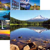 Reminisce - The Great Northwest Collection - 12 x 12 Double Sided Paper - Mt. Hood