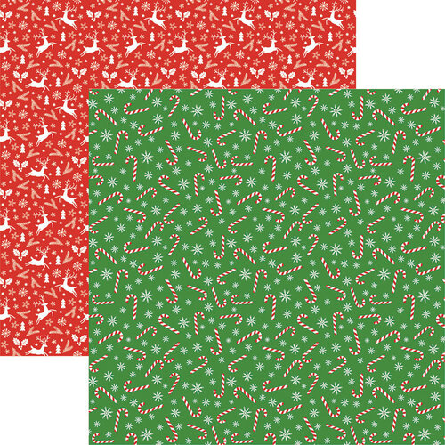 Reminisce - 12 x 12 Double Sided Paper - Candy Canes