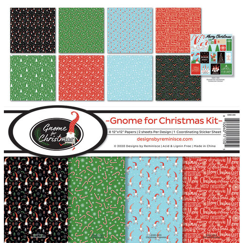 Reminisce - 12 x 12 Collection Kit - Gnome for Christmas