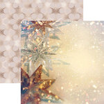 Reminisce - Gold Christmas Collection - 12 x 12 Double Sided Paper - Starry Christmas