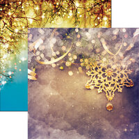 Reminisce - Gold Christmas Collection - 12 x 12 Double Sided Paper - Golden Christmas