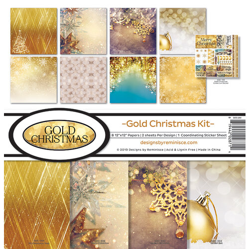 Reminisce - Gold Christmas Collection - 12 x 12 Collection Kit