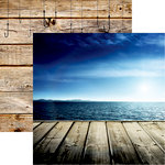Reminisce - Gone Fishing Collection - 12 x 12 Double Sided Paper - Fishing Paradise