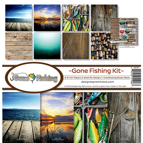 Reminisce - Gone Fishing Collection - 12 x 12 Collection Kit