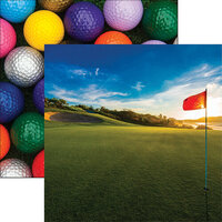 Reminisce - Golf Collection - 12 x 12 Double Sided Paper - On the Green