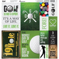 Reminisce - Golf Collection - 12 x 12 Cardstock Sticker Sheet