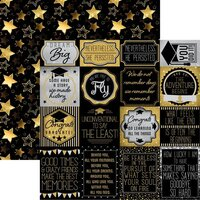 Reminisce - Graduation Collection - 12 x 12 Double Sided Paper - The Graduate