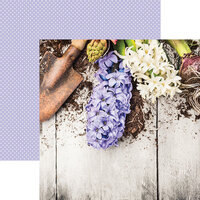 Reminisce - Growing Garden Collection - 12 x 12 Double Sided Paper - Lilac Hyacinth