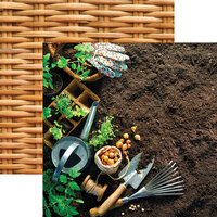Reminisce - Growing Garden Collection - 12 x 12 Double Sided Paper - Let's Dig In