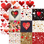 Reminisce - Hashtag Graffitiheart Collection - 12 x 12 Double Sided Paper - Valentine Graffiti