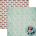 Reminisce - Good Vibes Collection - 12 x 12 Double Sided Paper - I Love the 70's