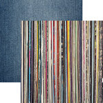 Reminisce - Good Vibes Collection - 12 x 12 Double Sided Paper - Stack of Vinyl Records