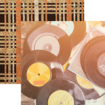 Reminisce - Good Vibes Collection - 12 x 12 Double Sided Paper - Retro Vinyl Records
