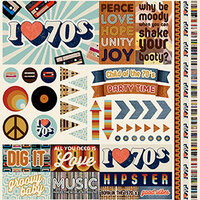 Reminisce - Good Vibes Collection - 12 x 12 Cardstock Stickers - Elements