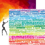 Reminisce - Gymnastics Collection - 12 x 12 Double Sided Paper - Competition