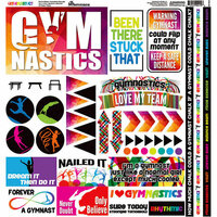 Reminisce - Gymnastics Collection - 12 x 12 Cardstock Stickers - Elements