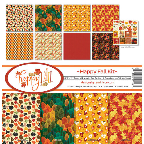 Reminisce - 12 x 12 Collection Kit - Happy Fall