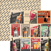 Reminisce - Happy Hour Collection - 12 x 12 Double Sided Paper - Good Times