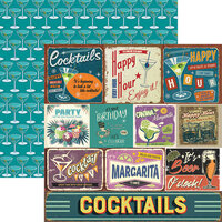 Reminisce - Happy Hour Collection - 12 x 12 Double Sided Paper - Happy Hour