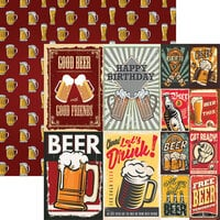 Reminisce - Happy Hour Collection - 12 x 12 Double Sided Paper - More Beer