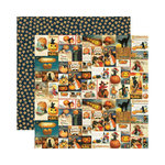 Reminisce - Hallowe'en Collection - 12 x 12 Double Sided Paper - Fright Night