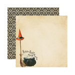 Reminisce - Hallowe'en Collection - 12 x 12 Double Sided Paper - Bubble, Bubble, Toil and Trouble