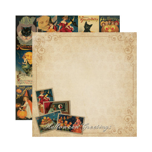 Reminisce - Halloween Collection - 12 x 12 Double Sided Paper - Happy Halloween