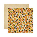 Reminisce - Halloween Collection - 12 x 12 Double Sided Paper - Halloween Cat