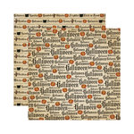 Reminisce - Halloween Collection - 12 x 12 Double Sided Paper - Halloween