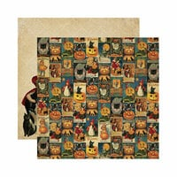 Reminisce - Halloween Collection - 12 x 12 Double Sided Paper - Halloween Collage