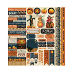 Reminisce - Hallowe'en Collection - 12 x 12 Cardstock Stickers - Variety