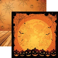 Ella and Viv Paper Company - Halloween Night Collection - 12 x 12 Double Sided Paper - Full Moon