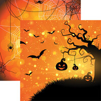 Ella and Viv Paper Company - Halloween Night Collection - 12 x 12 Double Sided Paper - Going Batty